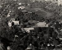 Aerial photography of Bethany Lutheran College taken in the 1950s.