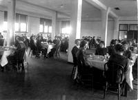 Bethany Ladies College Dining room during a meal.