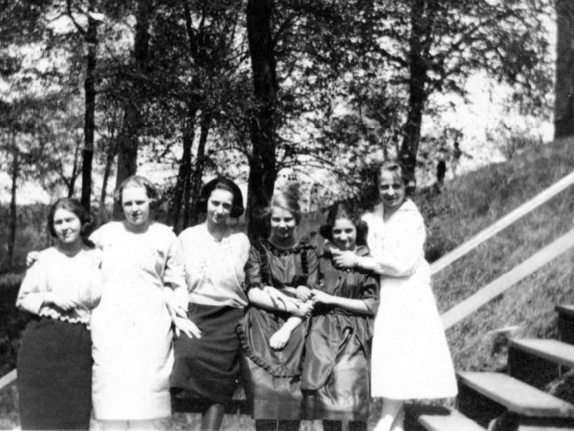 Bethany Ladies College original wood steps.