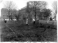 Bethany Ladies College tennis court, 1915.