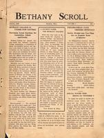 """Bethany Scroll,"" Bethany Lutheran College, Mankato, Minnesota, October 1926, Volume 1 Number 1"