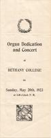 1923 Organ Dedication