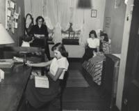 Dorm room Anderson Hall 1950s