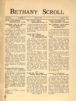 """Bethany Scroll,"" Bethany Lutheran College, Mankato, Minnesota, January 1927, Volume 1 Number 4"