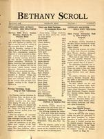 """Bethany Scroll,"" Bethany Lutheran College, Mankato, Minnesota, January 1928, Volume 2 Number 2"