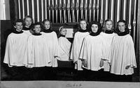 Bethany Lutheran College 1947 Girl's Octet featuring Gudrun (Madson) Moldstad (farthest to the right) and Clarice (Huso) Madson (third from the left)