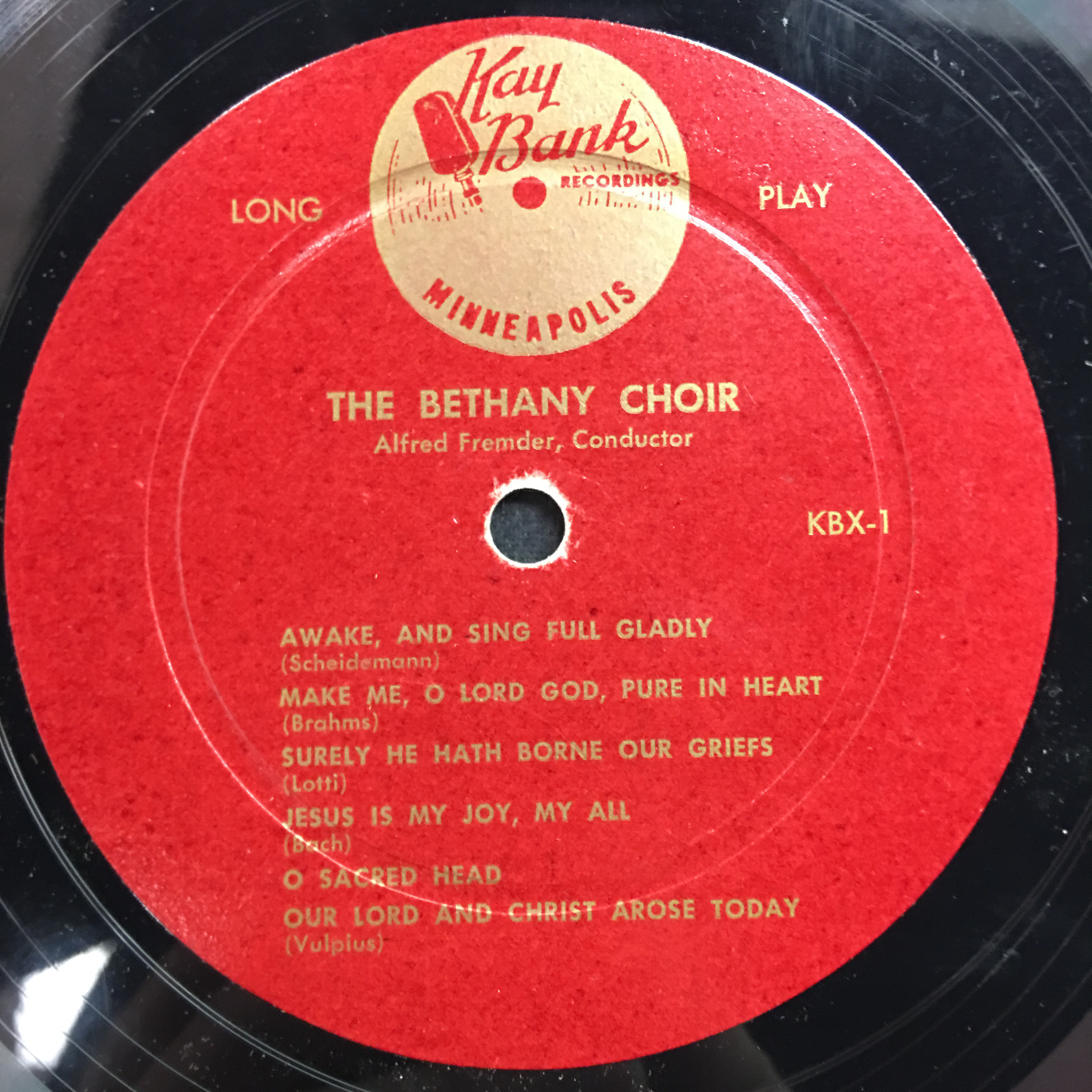The Bethany Choir 1950: Singing Praises to God Vinyl 1 Side 1