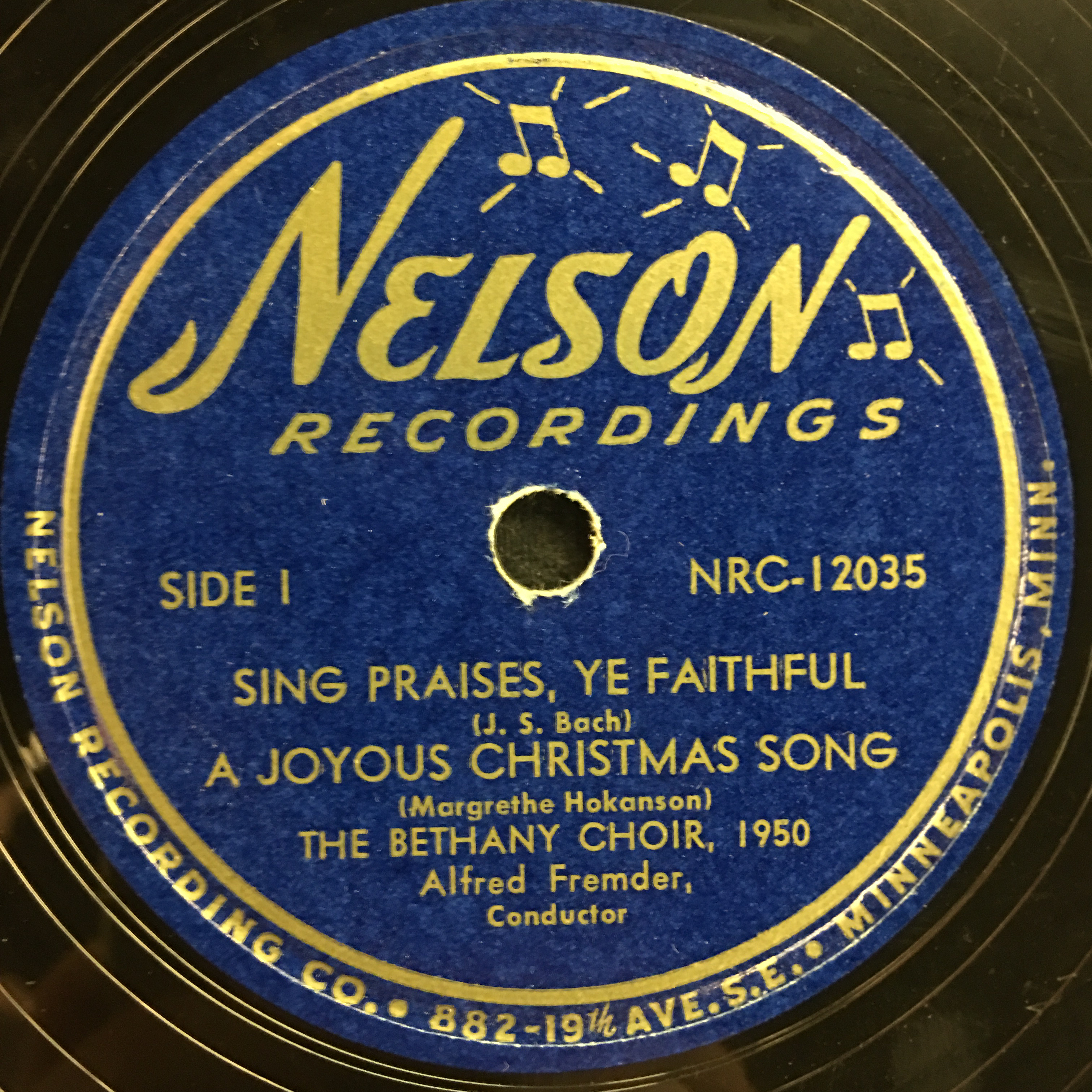 The Bethany Choir 1950: Sing Praises, Ye Faithful Vinyl 1 Side 1