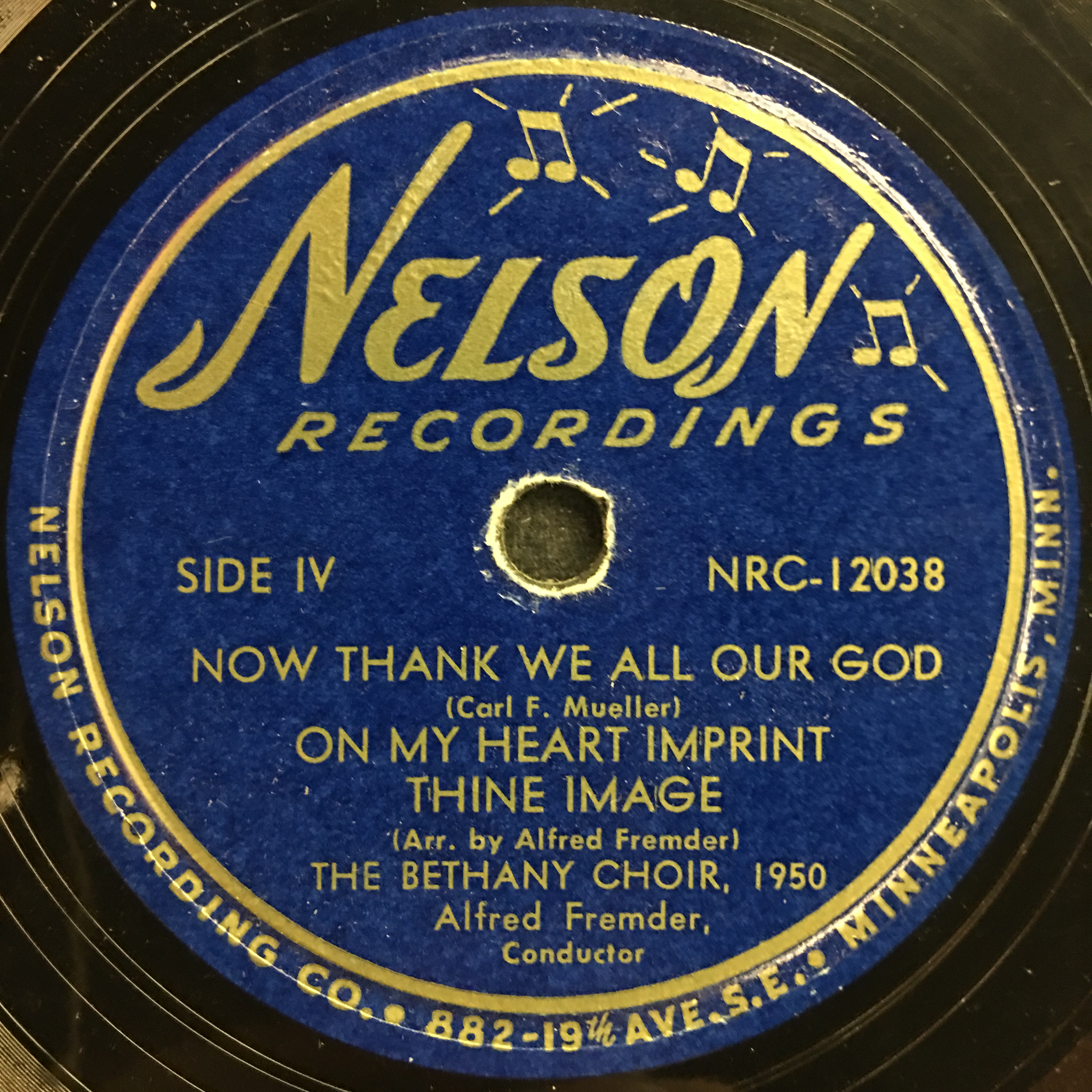 The Bethany Choir 1950: Sing Praises, Ye Faithful Vinyl 2 Side 2
