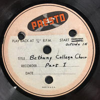 Assorted Bethany Choir Original Recordings Vinyl 2 Side 1