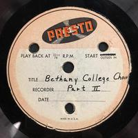 Assorted Bethany Choir Original Recordings Vinyl 2 Side 2