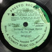 Assorted Bethany Choir Original Recordings Vinyl 3 Side 2