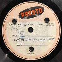 Assorted Bethany Choir Original Recordings Vinyl 4 Side 1