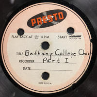 Assorted Bethany Choir Original Recordings Vinyl 5 Side 1