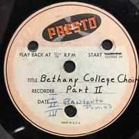 Assorted Bethany Choir Original Recordings Vinyl 5 Side 2