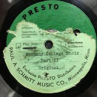 Assorted Bethany Choir Original Recordings Vinyl 6 Side 2