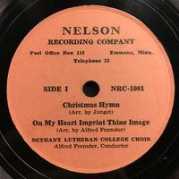 The Bethany Choir 1949: Songs of Praise Vinyl 3 Side 1