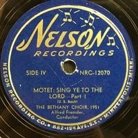 The Bethany Choir 1951 Vinyl 2 Side 2