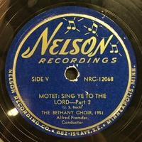 The Bethany Choir 1951 Vinyl 3 Side 1
