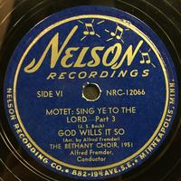 The Bethany Choir 1951 Vinyl 3 Side 2