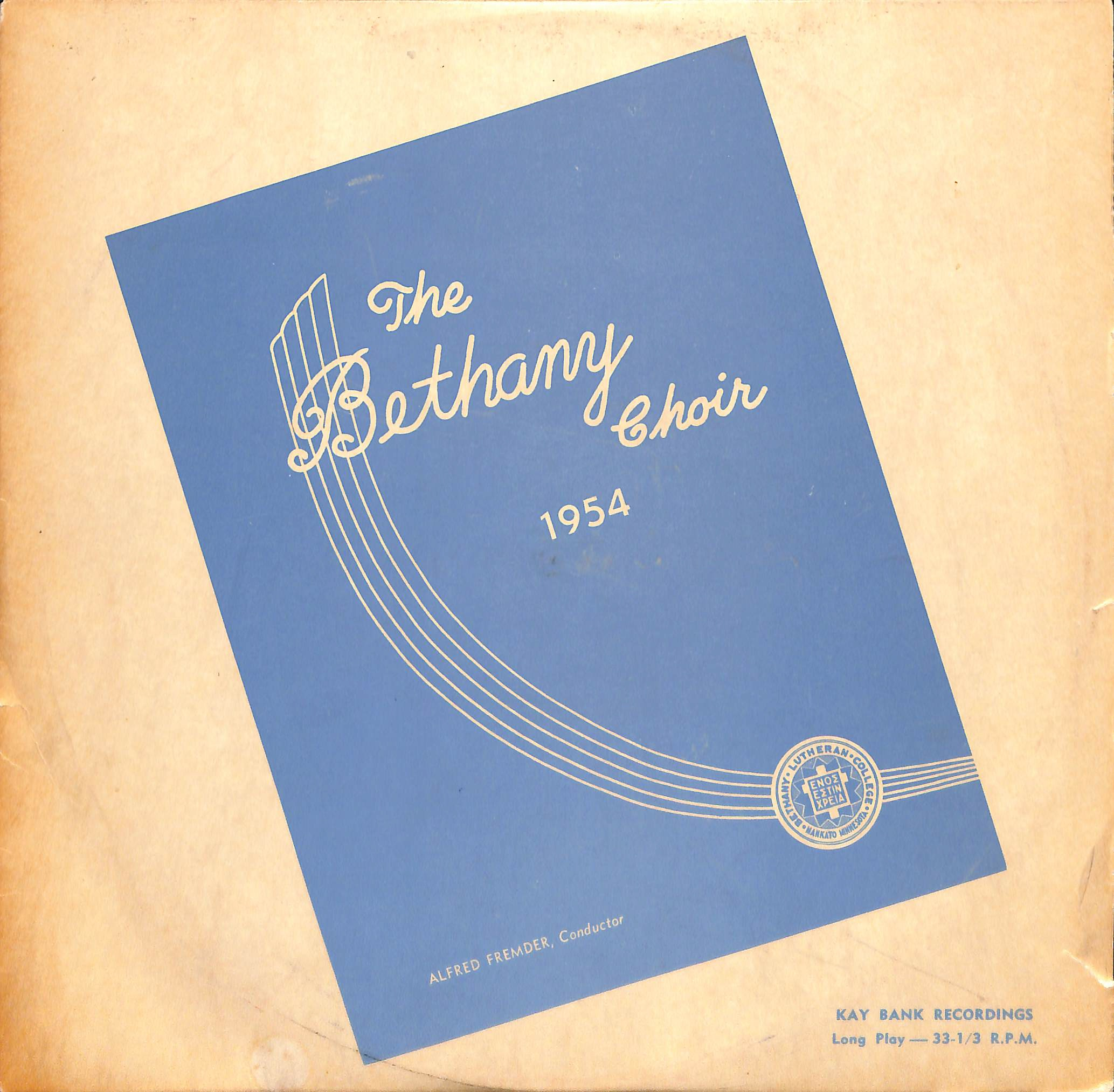 The Bethany Choir 1954