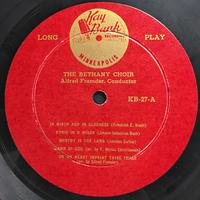 The Bethany Choir 1954 Vinyl 1 Side 1