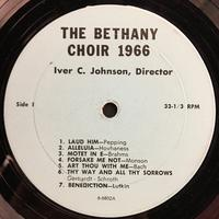 The Bethany Choir 1966 Vinyl 1 Side 1