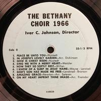The Bethany Choir 1966 Vinyl 1 Side 2