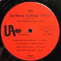The Bethany Choir 1970 Vinyl 1 Side 1