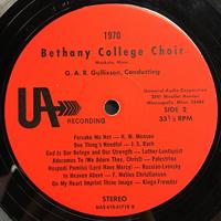 The Bethany Choir 1970 Vinyl 1 Side 2