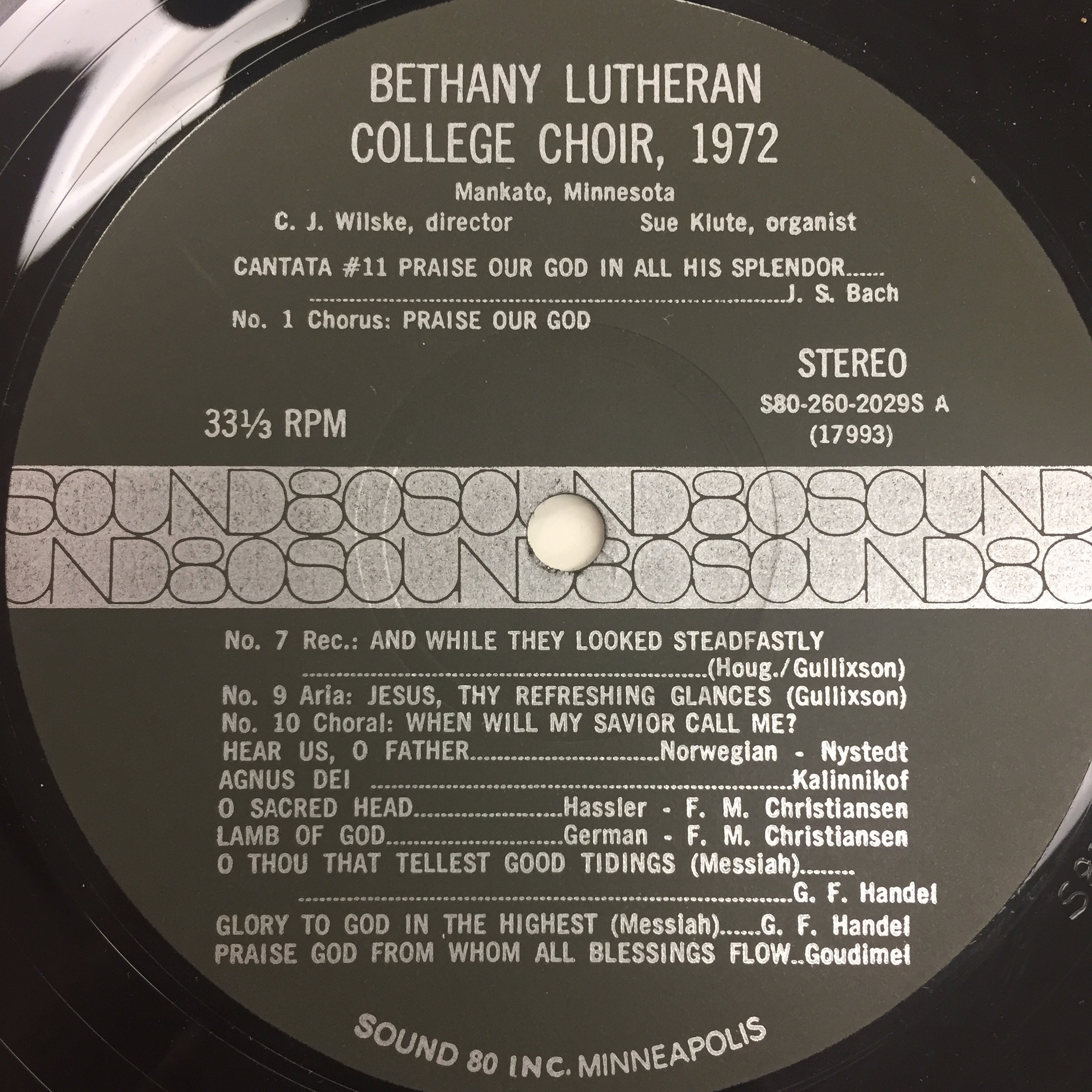 The Bethany Lutheran College Choir 1972