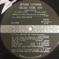 The Bethany Lutheran College Choir 1972 Vinyl 1 Side 1