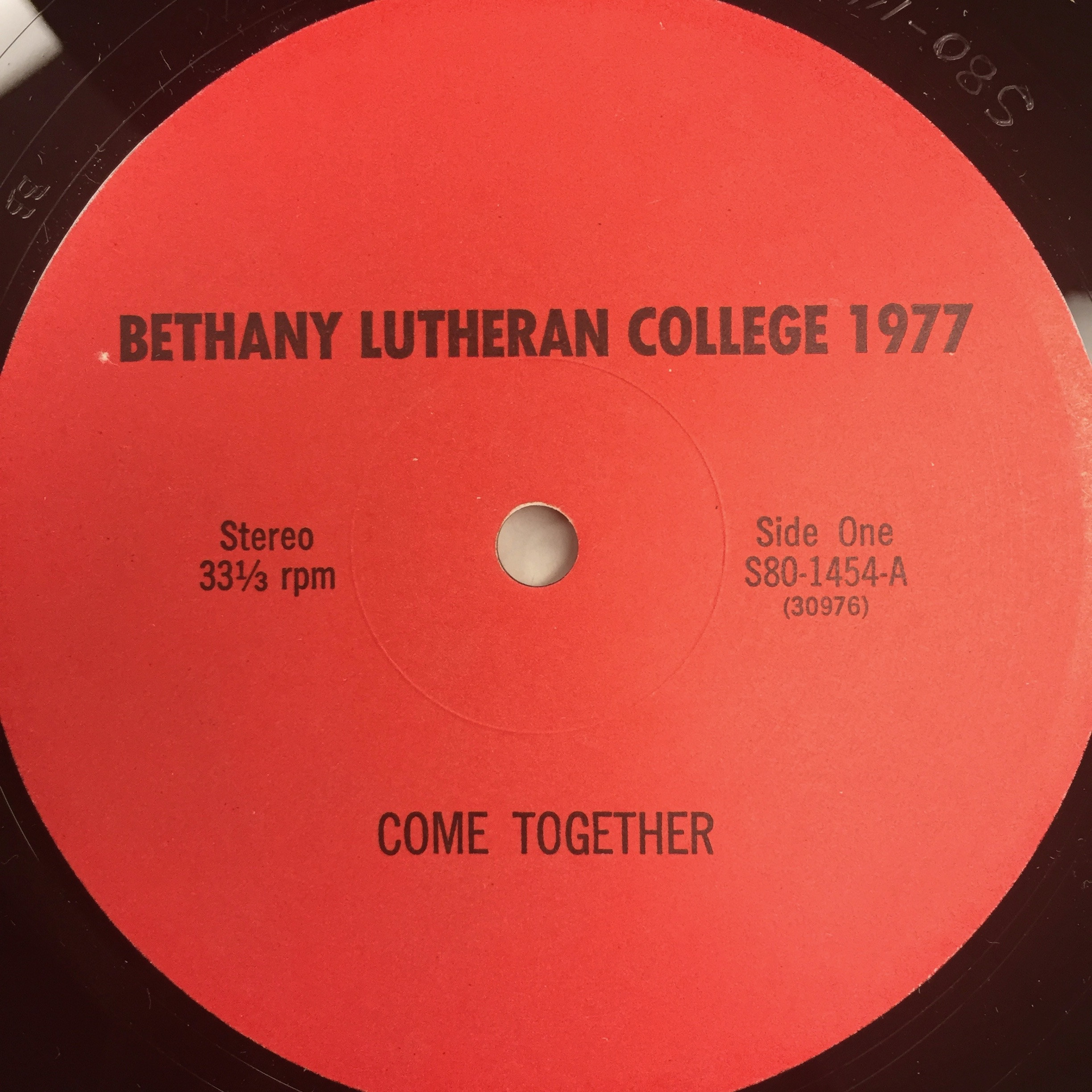 The Bethany Lutheran College Choir 1977: Come Together
