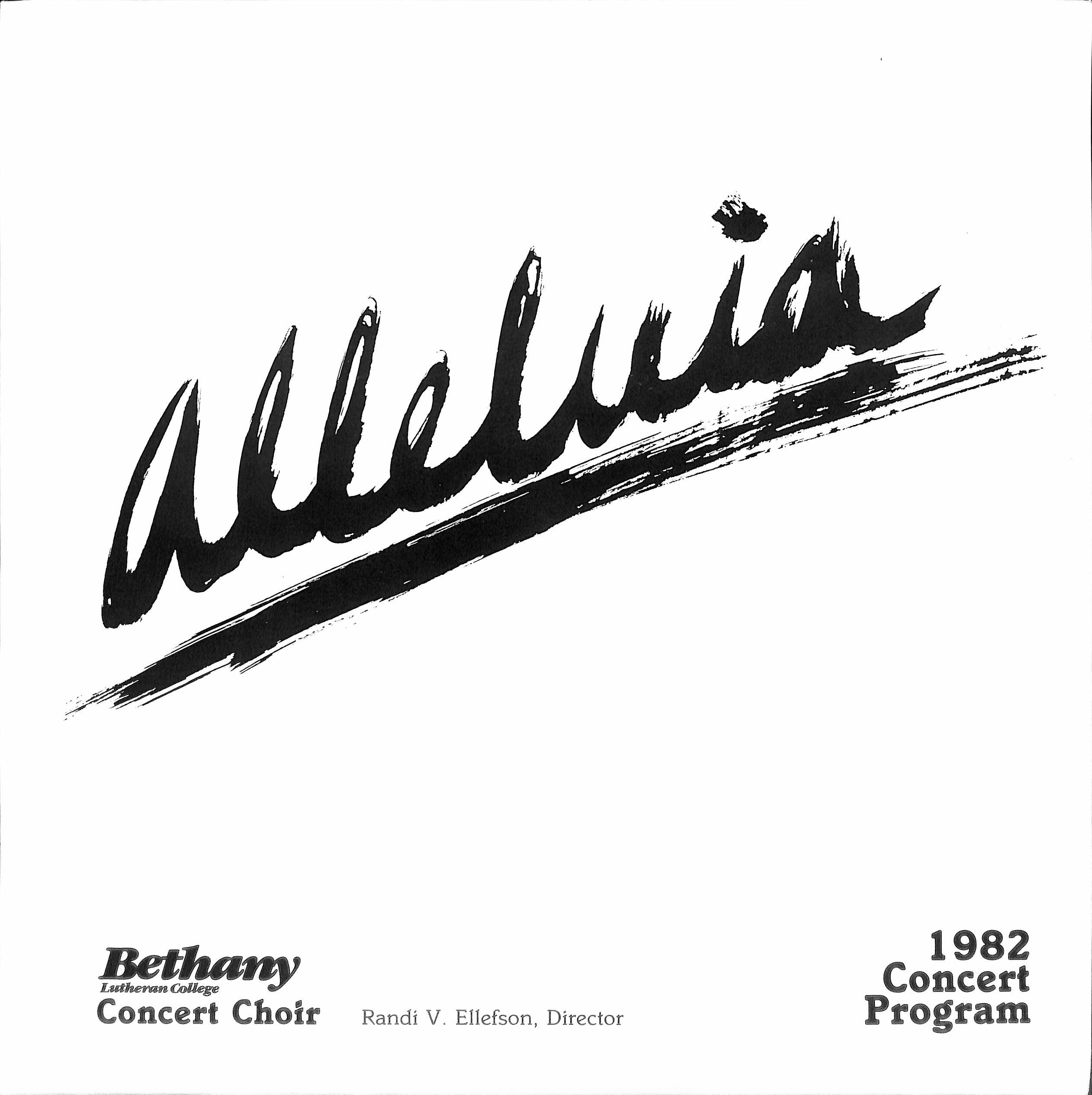 The Bethany Lutheran College Choir 1982: Alleluia