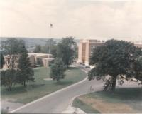 1967 aerial of Bethany Lutheran College library