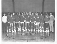 Bethany Lutheran College 1970-1971 portrait of men's basketball team and coaches