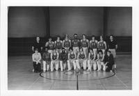Bethany Lutheran College 1972-1973 portrait of men's basketball team and coaches