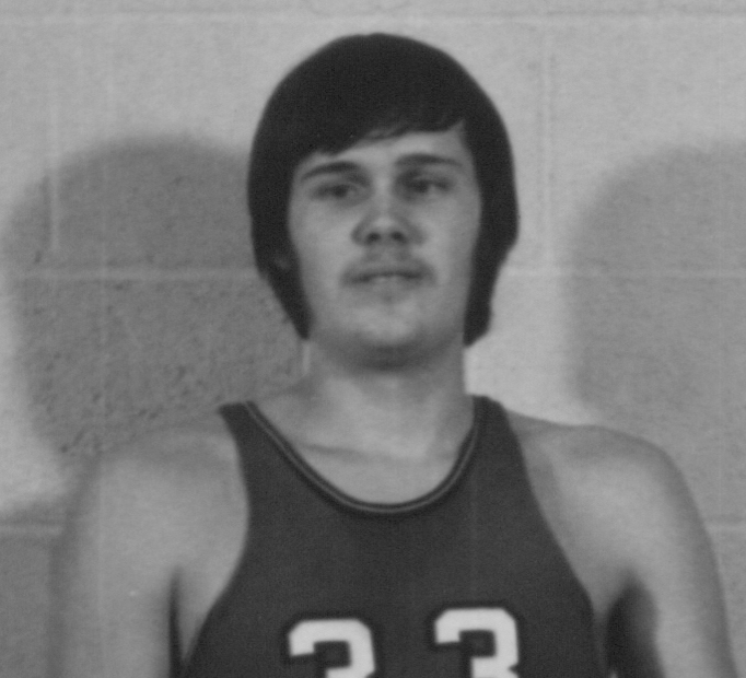 Bethany Lutheran College 1972-1973 portrait of men's basketball player, Steve Weddig