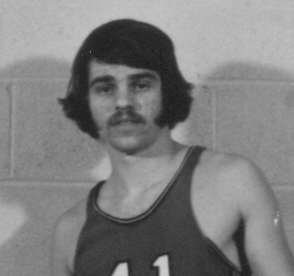 Bethany Lutheran College 1972-1973 portrait of men's basketball player, John Moldstad