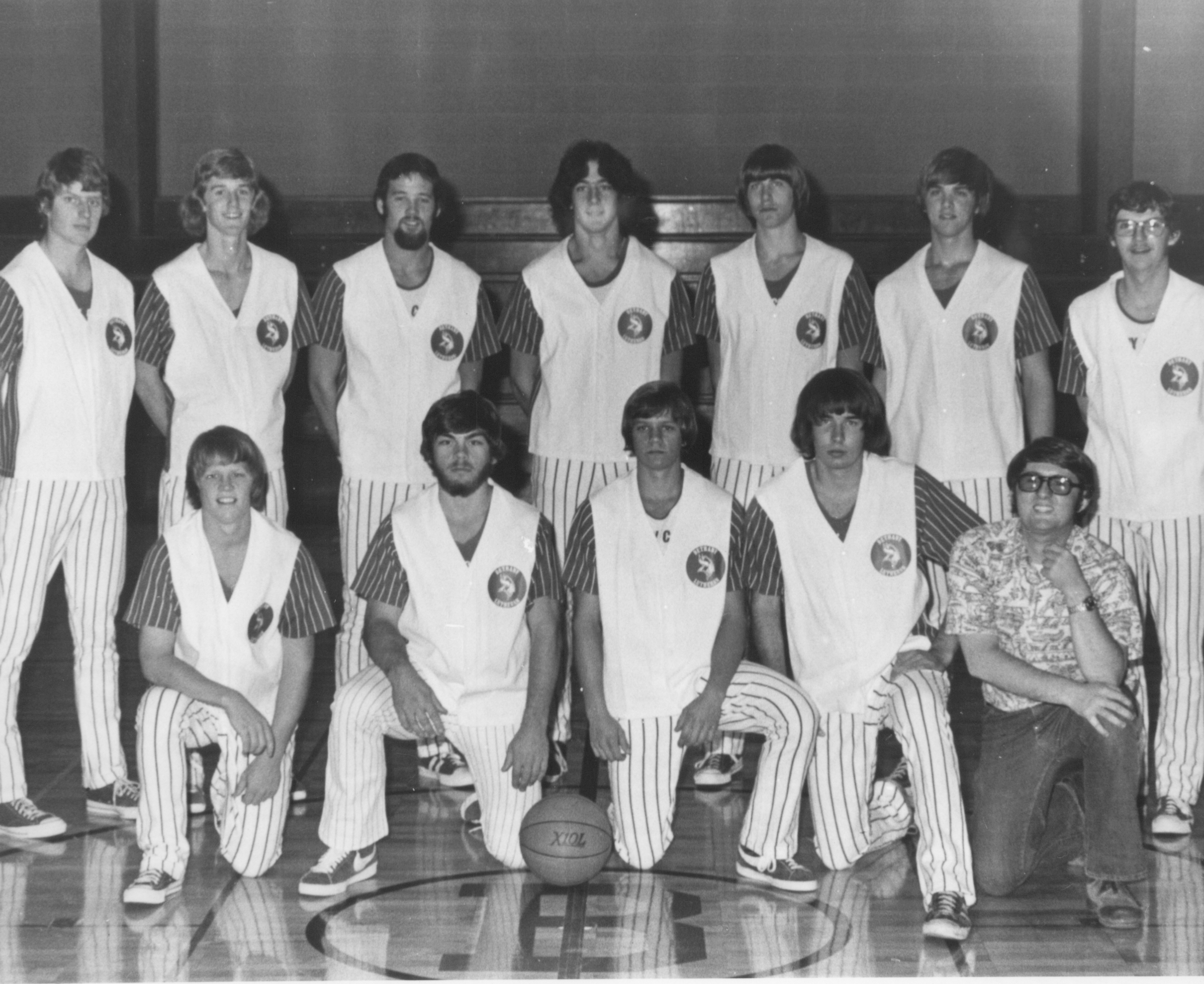 Bethany Lutheran College 1975-1976 men's basketball team and coaches
