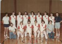 Bethany Lutheran College 1975-1976 portrait of men's basketball team and coaches