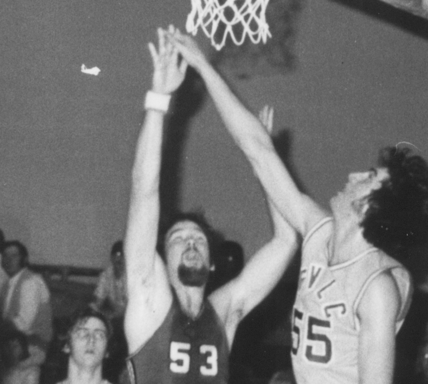 Bethany Lutheran College 1975-76 snapshot of men's basketball player, Mike Miller