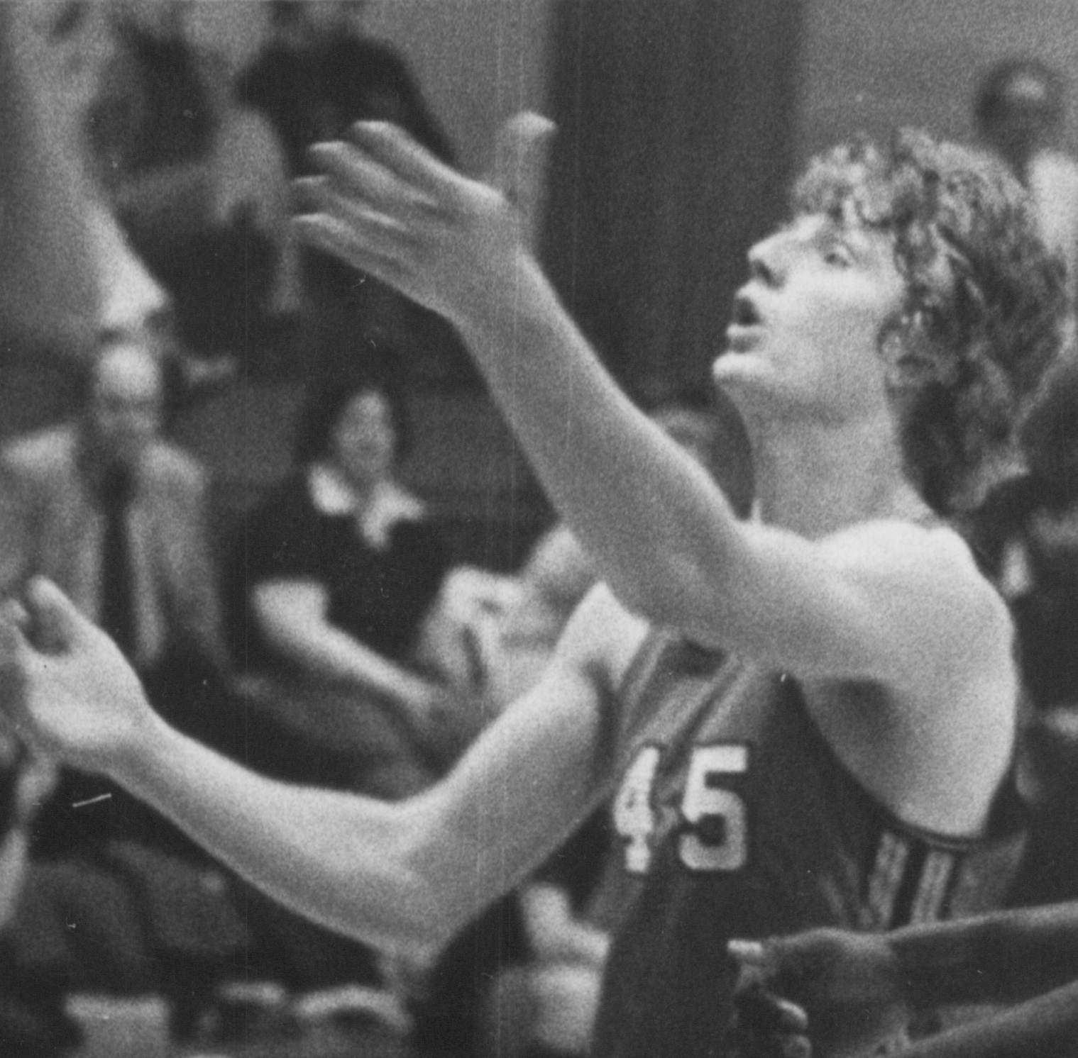 Bethany Lutheran College 1975-1976 snapshot of men's basketball player, Mike Schlomer