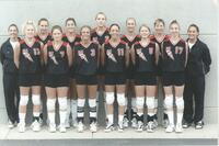 Bethany Lutheran College 2000 portrait of the volleyball team