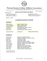 Bethany Lutheran College 2000 NJCAA all region team report for volleyball