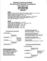 Bethany Lutheran College 1996 tournament bracket for women's volleyball