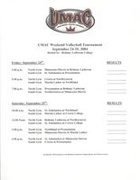 Bethany Lutheran College 2004 UMAC volleyball schedule