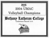Bethany Lutheran College 2004 UMAC champions certificate