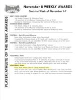 Bethany Lutheran College 2004 UMAC weekly awards report 11/08