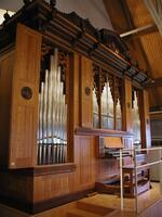 Snapshot of the Dobson organ used at Bethany Lutheran College in the Trinity Chapel